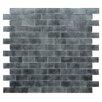 "Kellani Quartz 0.75"" x 1.63"" Glass Mosaic Tile in Light/Dark Gray"