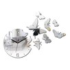 ModernClock Butterfly Mirror Analog Wall Clock