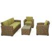 Maze Rattan Milan 5 Seater Sofa Set with Cushions