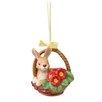 Goebel Rabbit in Basket Hanging Figurine