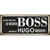 Cuadros Lifestyle Boss Typography Plaque