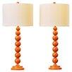 """Varick Gallery Oakwood 31"""" Table Lamps (Set of 2)"""