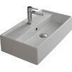 """Scarabeo by Nameeks Teorema 16"""" Wall Mounted Bathroom Sink with Overflow"""
