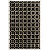 Meridian Rugmakers Haifa Hand-Tufted Black/Beige Area Rug
