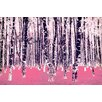 Salty & Sweet Lucid Birch Graphic Art on Canvas