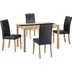 All Home Ashleigh Dining Set with 4 Chairs