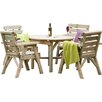 Zest 4 Leisure Abbey 4 Seater Dining Set