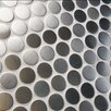 "EliteTile 1"" x 1"" Metal/Porcelain Mosaic Tile in Polished Stainless steel"