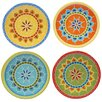 "Certified International Valencia 6.25"" Canape Plate (Set of 4)"