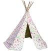 Garden Games Flower and Butterfly Wigwam Play Tent
