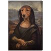 Oliver Gal Mutt-a-Lisa by Art Remedy Art Print Wrapped on Canvas