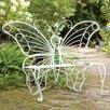 Plow & Hearth Weather-Resistant Butterfly Metal Garden Bench