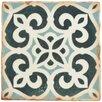 "EliteTile Arquivo 4.875"" X 4.875"" Ceramic Patterned/Field Tile in Green/White"