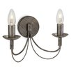 Three Posts Shire 2 Light Semi-Flush Wall Light