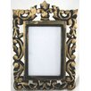 Castleton Home Natural Carved Wooden with Hint of Gold Picture Frame