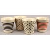 Castleton Home 4 Piece Assorted Ceramic Tumbler Set