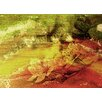 Andrew Lee 'Gold Rustic Flowers' by Andrew Lee Graphic Art Wrapped on Canvas