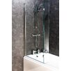 Cassellie 138.5cm x 83cm Hinged Bath Screen
