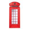 Southern Enterprises British Heritage Style Phone Box Mirror