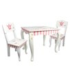 Fantasy Fields Kids 3 Piece Rectangular Table and Chair Set