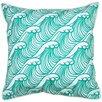Island Girl Home Coastal Wave Hello Throw Pillow