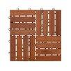 """Wildon Home ® Nancy Wood 11.75"""" x 11.75"""" Floor Deck Tile (Set of 6)"""