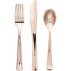 Creative Converting Rosegold Metallic Plastic Cutlery (Set of 24)