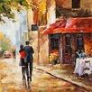 Vintage Boulevard Gemälde Städte und Wolkenkratzer (Städte)