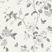 Galerie Home English Florals on White Ground 10m L x 53cm W Floral and Botanical Roll Wallpaper