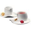 Deagourmet Materia 4 Piece Espresso Cup and Saucer Set