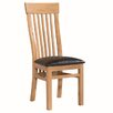 Hazelwood Home Torquay Solid Oak Upholstered Dining Chair (Set of 2)