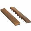 "Bare Decor EZ-Floor Interlocking Flooring Wood 12"" x 1"" End Pieces Snap-In in Oiled"