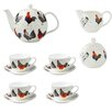Ulster Weavers Rooster 7 Piece Bone China Tea Set
