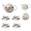 Ulster Weavers RHS Strawberry 7 Piece Bone China Tea Set