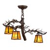 Meyda Tiffany Greenbriar Oak 3-Light Shaded Chandelier