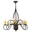 Meyda Tiffany Greenbriar Oak 6-Light Candle-Style Chandelier