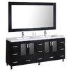 """dCOR design Pratt 72"""" Double Bathroom Vanity Set with Mirror"""