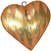 POSH Graffiti by Emily Readett-Bayley 5 Piece Wooden Heart Shaped Ornament Set with Stripes (Set of 5)