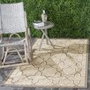 Safavieh Cream/Brown Indoor/Outdoor Area Rug