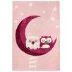 Livone GmbH Sleeping Owls Pink Area Rug
