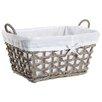 Castleton Home Rattan Rectangle Lined Basket