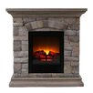 """OK Lighting Portable 30"""" TV Stand with Electric Fireplace"""