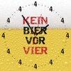 Contento Kein Bier Vor Vier Analogue Wall Clock