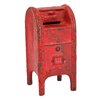 Design Toscano Mail Post Box Still Action Die-Cast Iron Coin Bank
