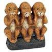Design Toscano Speak No, See No, Hear No Evil Monkeys Still Action Die-Cast Iron Coin Bank