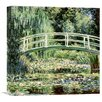 Global Gallery 'Les Nympheas Blancs(The White Waterlilies)' by Claude Monet Painting Print on Wrapped Canvas