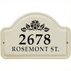 Whitehall Products Rosette 2-Line Wall Address Plaque