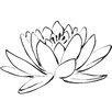 WallPops! Digital Lotus Flower Wall Decal