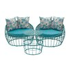 Metal Outdoor 3 Piece Deep Seating Group with Cushion