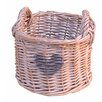 Artesania San Jose Round Willow Basket with Heart (Set of 2)